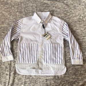 New Burberry children button down 4 yr boy shirt